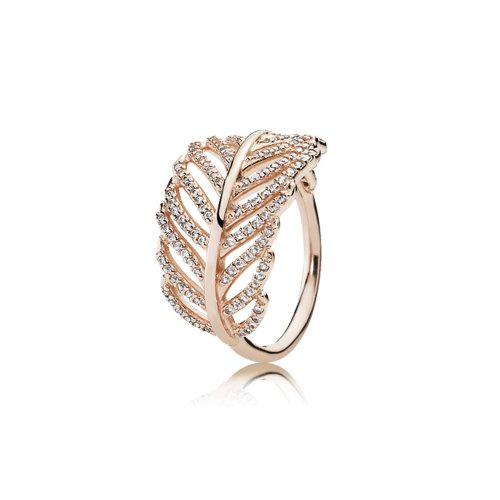 Anillo Pluma Brillante PANDORA Rose