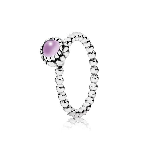 Silver ring, birthstone-February, amethyst - PANDORA