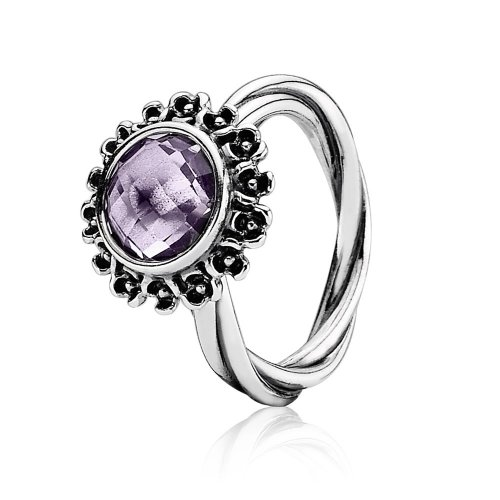 Silver Ring, light colour amethyst - PANDORA