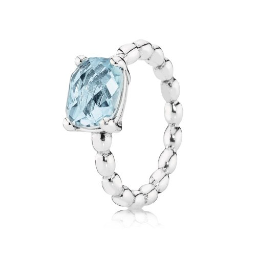 Silver ring with blue topaz - PANDORA