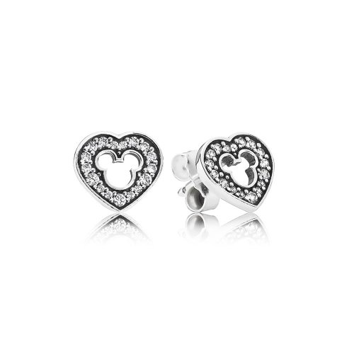 Disney, Mickey Silhouette Earrings - PANDORA