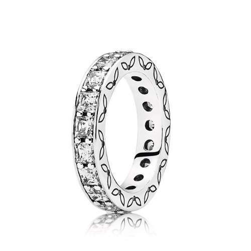 Silver ring with cubic zirconia - PANDORA