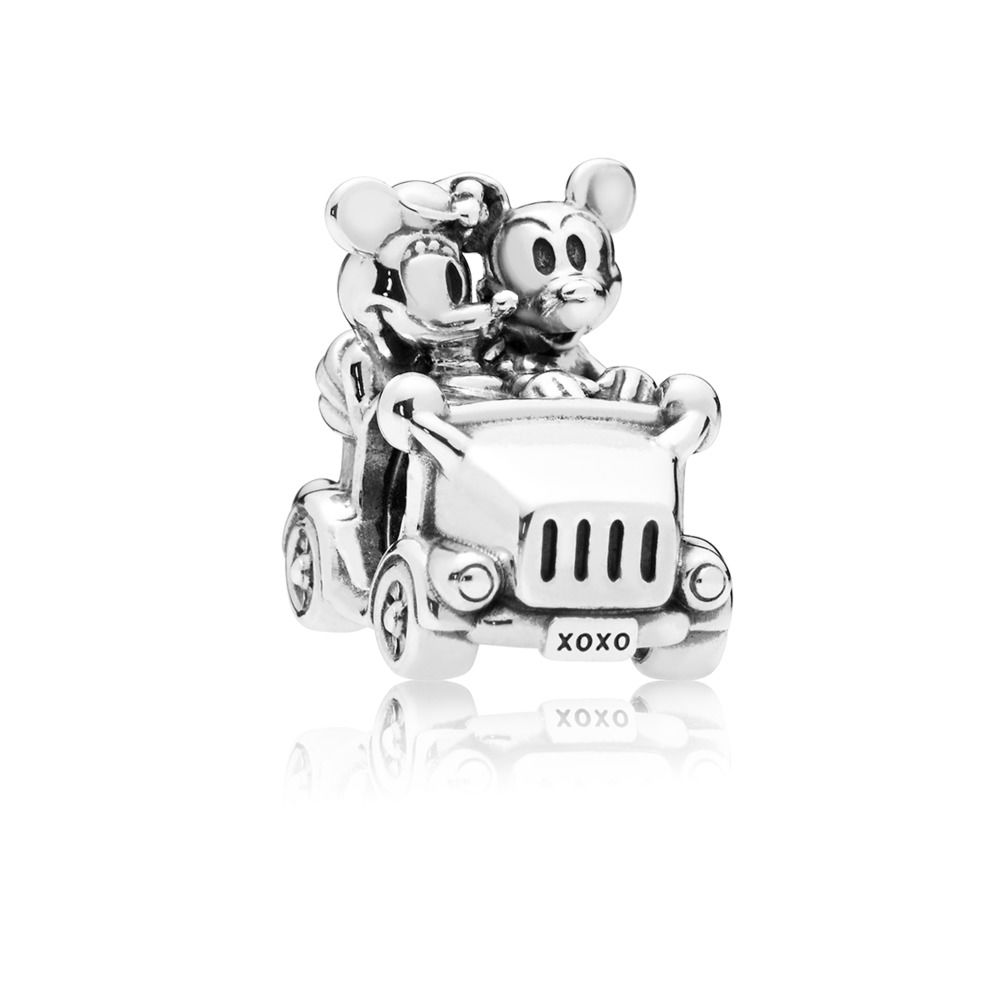 disney charm pandora mickey y minnie vintage car 797174